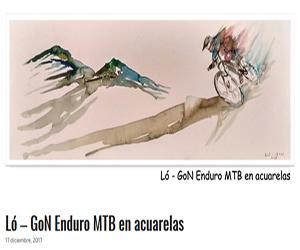 Ló - Gon Enduro MTB en Acuarelas