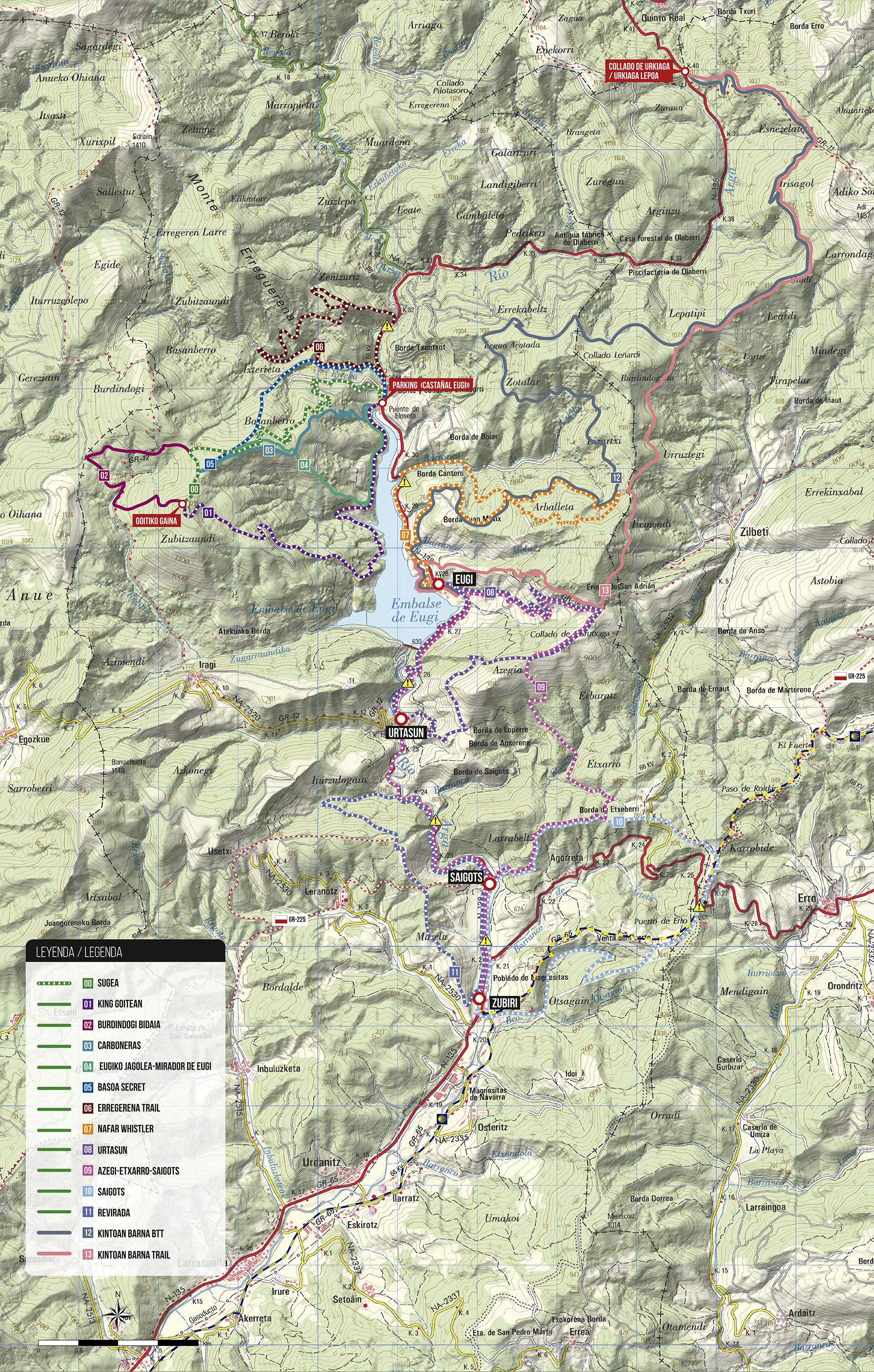 eremua mapa de rutas mtb